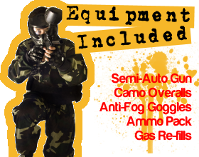 Paintball Equipment Included
